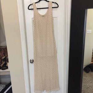 Cream summer maxi dress